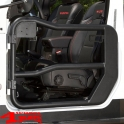 Fortis Tube Doors Front Black Wrangler JK year 07-18 2- or 4-doors