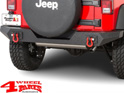 Rear Bumper Spartan textured Jeep Wrangler JK year 07-18