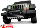 Front Tube Center Bumper Steel Black Wrangler JK year 07-09