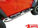 Side Tube Steps Outland Big Ø 100mm Stainless Steel Wrangler JK 07-18 4-doors