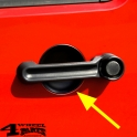 Door Handle Guards Recess Black Wrangler JK year 07-18 2-doors