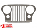 Grille Overlay Applique Stainless Steel Jeep CJ year 76-86