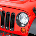 Headlight Trim Bezels Black Jeep Wrangler JK year 07-18