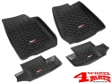 Floor Liner Set 2-pieces Black Jeep Wrangler JK year 07-13 2-doors