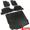 Floor Liner Set 3-pieces Black Wrangler JK year 11-18 4-doors
