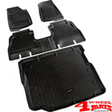 Floor Liner Set 3-pieces Black Wrangler JL year 18-19 4-doors