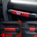 Grab Handles Cover Kit 5-pieces Red Wrangler JK year 07-10 4-doors