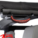 Grab Handles Pair Red Rear Side or Front A-Pillar Paracord JK JL