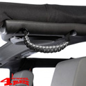 Grab Handles Pair Gray Rear Side or Front A-Pillar Paracord JK JL