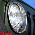 Trim Bezels Chrome Headlight Lamp Covers Wrangler JK year 07-18
