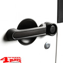 Door Handle Inserts Alu Black Wrangler JK year 07-18 4-doors