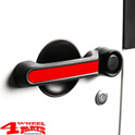 Door Handle Inserts Alu Red Wrangler JK year 07-18 2-doors