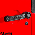 Door Handle Inserts Black Tread Wrangler JK 07-18 2-doors