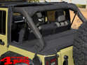 Duster Tonneau Cover Black Diamond Wrangler JK year 07-18 4-doors