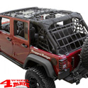 Cargo Net on Roll Bar Black Jeep Wrangler JK year 07-18 4-doors