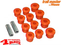 Leaf Spring Shackle Bushing Set Front or Rear Polyurethane Trailmaster Suzuki Samurai SJ410 SJ413 year 1985-