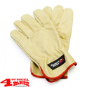 Leather Recovery Gloves with Rugged Ridge Logo