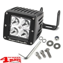 LED Headlamp Square of Rugged Ridge 8x7,5cm 16 Watt with E-mark