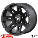 Aluminum Wheel 8,5x17 ET +10 XHD satin Black Wrangler JK year 07-18