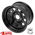 Steel Wheel 9x17 ET -12 in Black Jeep Wrangler JK year 07-18