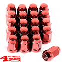 "Wheel Lug Nut Set 20 pce. Red for Steel or Alu Wheels 1/2"" Jeep"