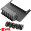 Switch Pod Lower Kit incl. 5 Switches Wrangler JK year 11-18