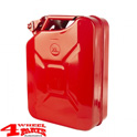 Steel Jerry Can 20 L Steel Red from Rugged Ridge