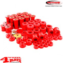 Total Body and Suspension Bushing Set PU Red Wrangler YJ 87-95