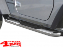 Side Tube Steps Europe Ø 75mm Stainless Steel TÜV Wrangler TJ 97-06