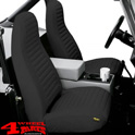 Seat Covers Front Black Denim Bestop Wrangler YJ year 92-94