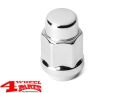 "Wheel Lug Nut Chrome for Steel or Alu Wheels 1/2"" Jeep"