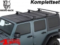 Overhead Rhino Rack Mounting Kit + Vortex Bars Black JK year 07-18 4-doors