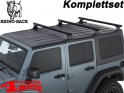 Overhead Rhino Rack Mounting Kit + Heavy Duty Bars Black JK year 07-18 4-doors