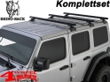 Overhead Rhino Rack Mounting Kit + Heavy Duty Bars Black JL year 18-20 4-doors