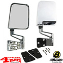 Mirror Set Door Chrome Bestop Wrangler YJ TJ year 87-02