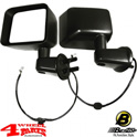 Mirror Set Side power mirrors + Heated Black Wrangler JK year 11-13
