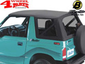 Replacement Soft Top Black Denim Clear Windows Bestop Vitara year 88-04