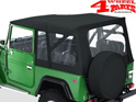 Supertop Black Denim Toyota Landcruiser BJ40 + FJ40 year 60-84