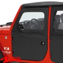 2-Piece Doors Front Black Twill Wrangler JK year 07-18 2- or 4-doors