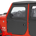 2-Piece Doors Front Black Diamond Wrangler JK year 07-18 2- or 4-doors