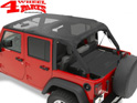 Safari Header Bikini Top Mesh Bestop Wrangler JK year 07-09 4-doors