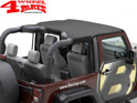 Header Bikini Top Black Diamond Wrangler JK year 10-18 2-doors