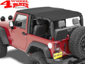 Safari Bikini Top Cable-Style Black Diamond Wrangler JK year 10-18 2-doors