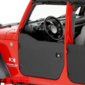 Half Doors Front Black Diamond Wrangler JK year 07-18 2 or 4-doors