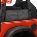 Saddle Bag in the roll Bar Black Denim Jeep Wrangler YJ TJ year 92-06