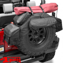 "Spare Tire Organizer in Black Diamond 30 - 33"" Jeep year 76-20"