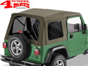 Supertop Khaki Diamond tinted Jeep Wrangler TJ year 97-06