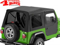 Supertop incl. 2 pce. Doors Black Denim tinted Wrangler TJ year 97-06