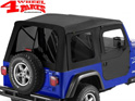Supertop incl. 2 pce. Doors Black Diamond tinted Wrangler TJ year 97-06