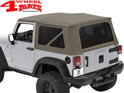 Supertop Khaki Diamond Jeep Wrangler JK year 07-18 2-doors